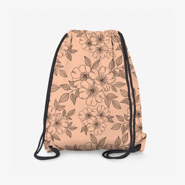 Рюкзак «Цветущая яблоня на телесном»