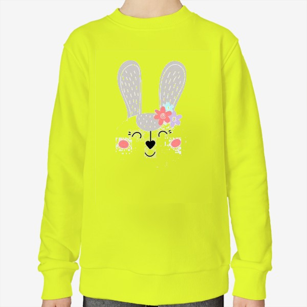 Свитшот «Милый зайчик. Кролик с цветочками»