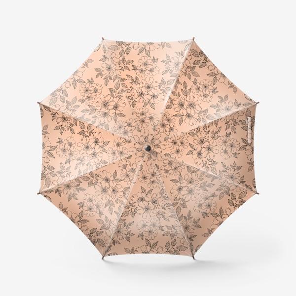 Зонт «Цветущая яблоня на телесном»