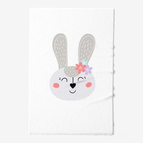 Полотенце «Милый зайчик. Кролик с цветочками»