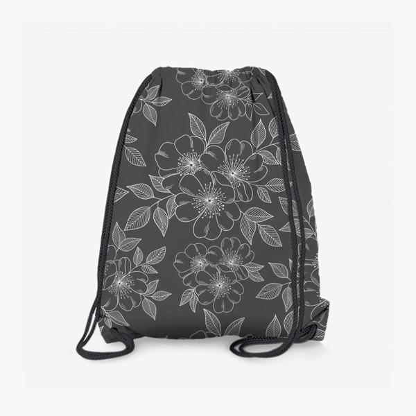 Рюкзак «Цветущая яблоня на сером»