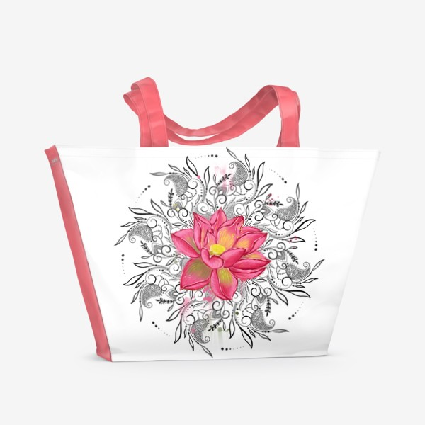 Пляжная сумка «Мандала и лотос»