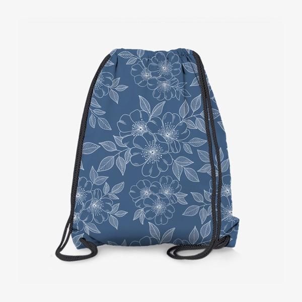 Рюкзак «Цветущая яблоня на синем»