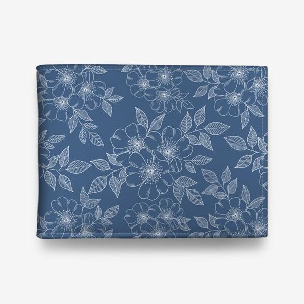 Кошелек «Цветущая яблоня на синем»