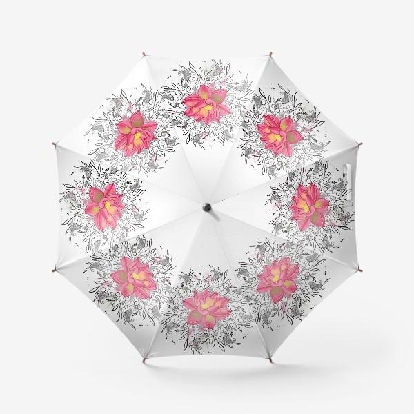 Зонт «Мандала и лотос»
