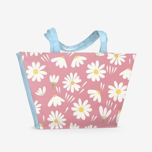 Пляжная сумка «ромашки»