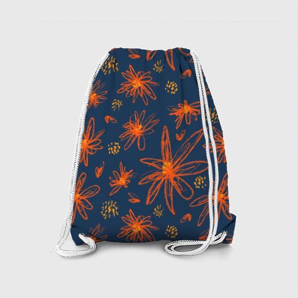 Рюкзак «оранжевые цветы»