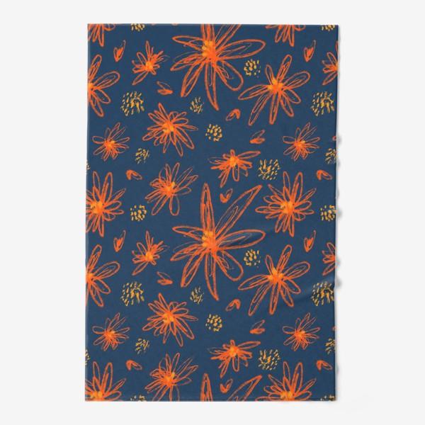 Полотенце «оранжевые цветы»