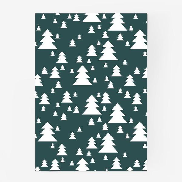 Постер «Зимний хвойный лес»