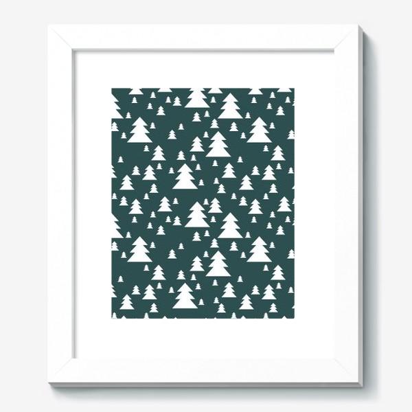 Картина «Зимний хвойный лес»