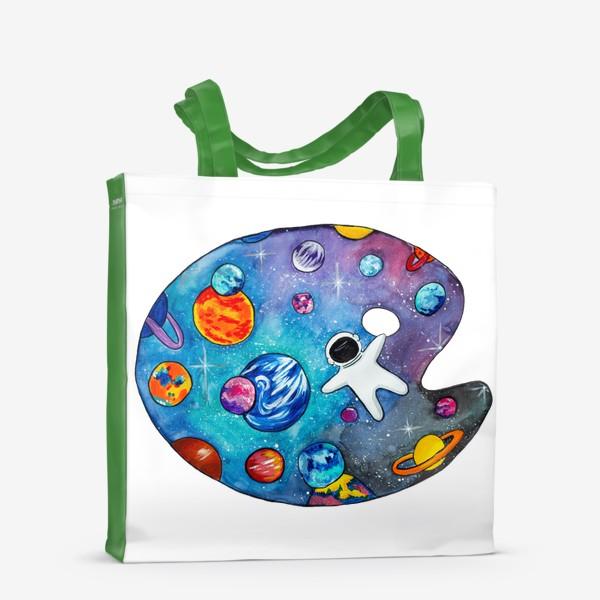 Сумка-шоппер «Космос День Космонавтики Планеты Звезды Космонавт»
