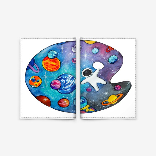 Обложка для паспорта «Космос День Космонавтики Планеты Звезды Космонавт»