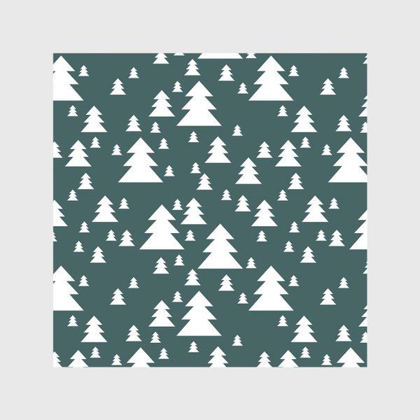 Скатерть «Зимний хвойный лес»