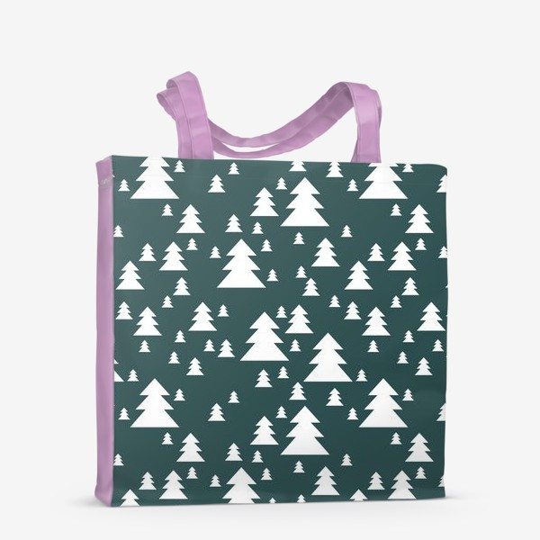 Сумка-шоппер «Зимний хвойный лес»