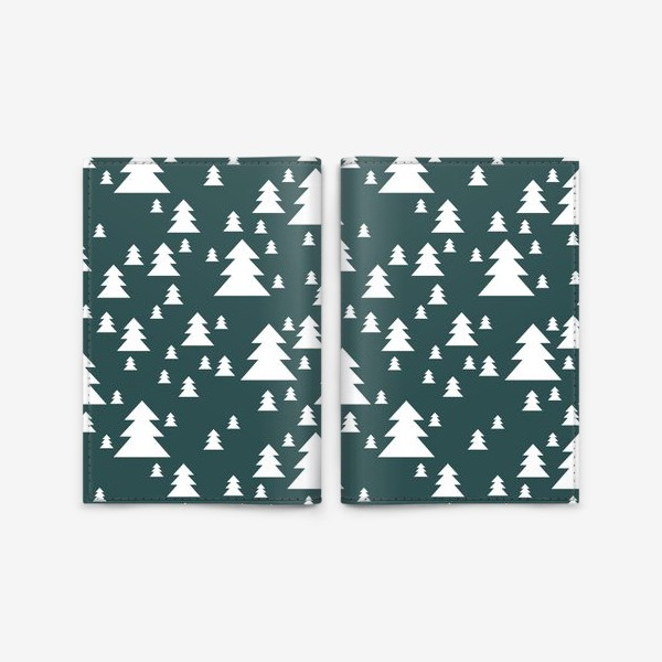 Обложка для паспорта «Зимний хвойный лес»