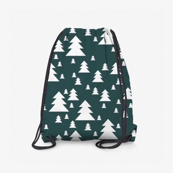 Рюкзак «Зимний хвойный лес»