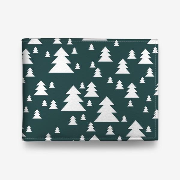 Кошелек «Зимний хвойный лес»
