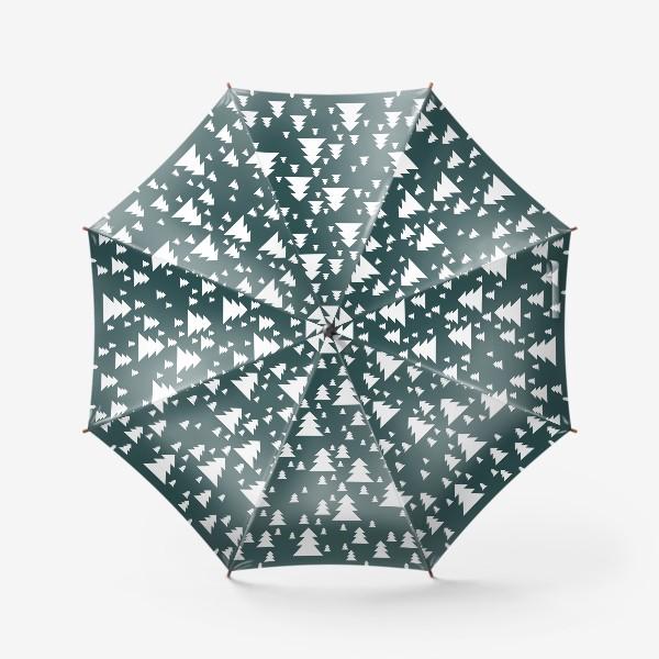 Зонт «Зимний хвойный лес»
