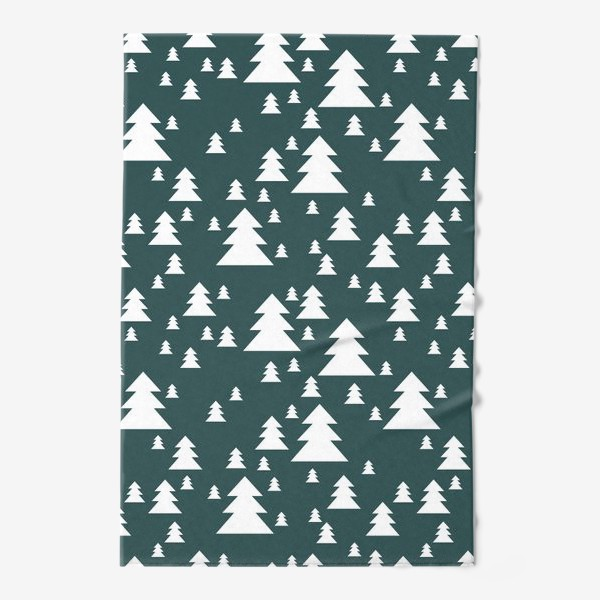 Полотенце «Зимний хвойный лес»