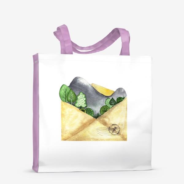 Сумка-шоппер «Горы в конверте»