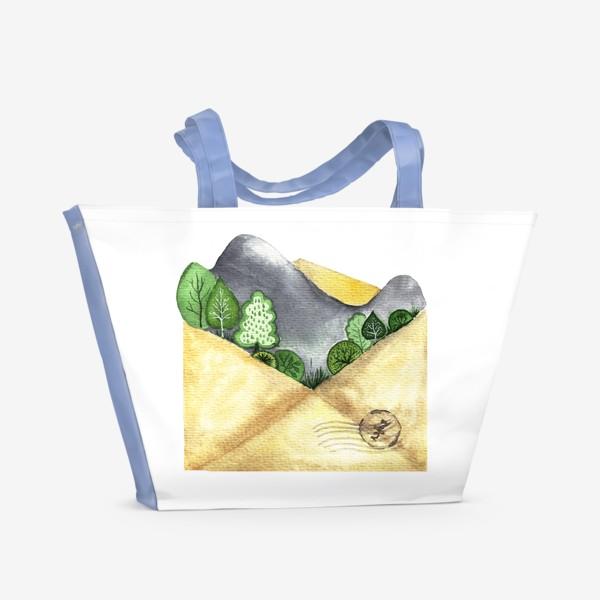 Пляжная сумка «Горы в конверте»