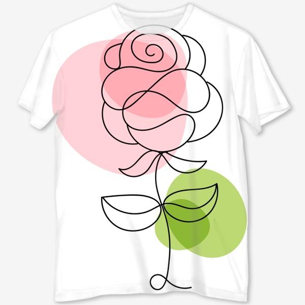 Футболка с полной запечаткой «Roses»