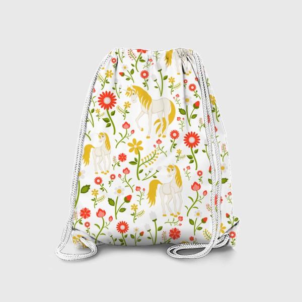 Рюкзак «Летний узор с единорогами»