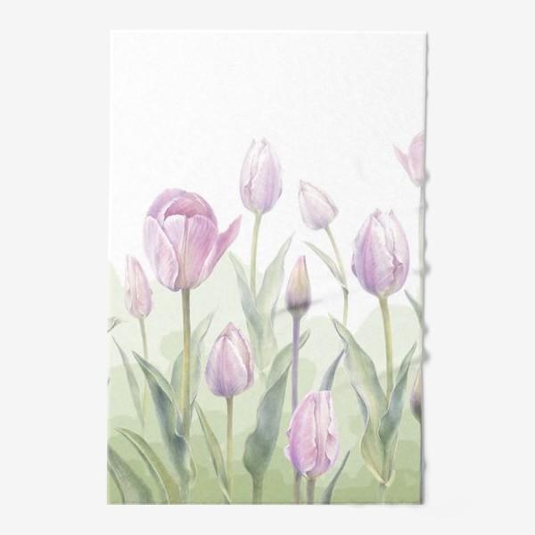 Полотенце «Светло-сиреневые тюльпаны Букет 3 КУПОН»