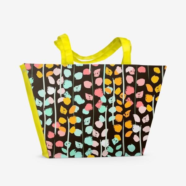 Пляжная сумка «веточки акварель»