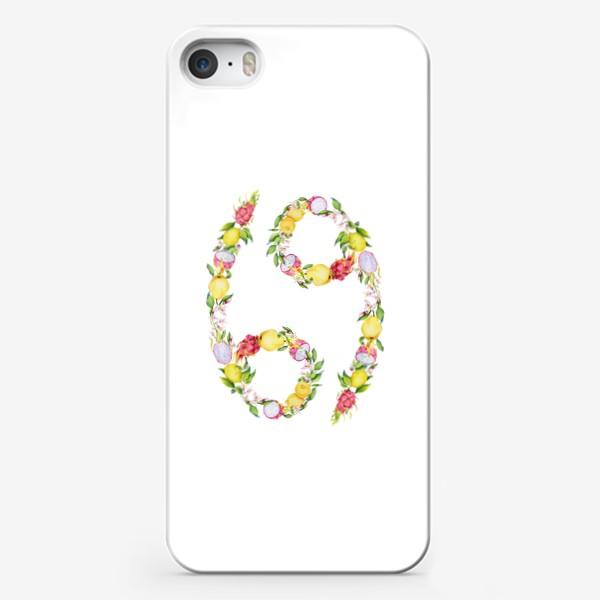 Чехол iPhone «Рак. Акварельный зодиак. Подарок раку»