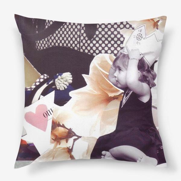 Подушка «Коллаж Девочка»
