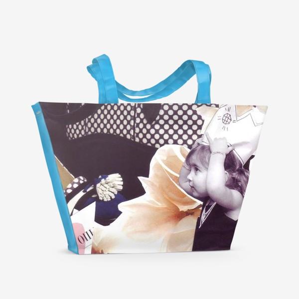 Пляжная сумка «Коллаж Девочка»