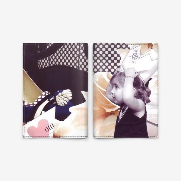 Обложка для паспорта «Коллаж Девочка»