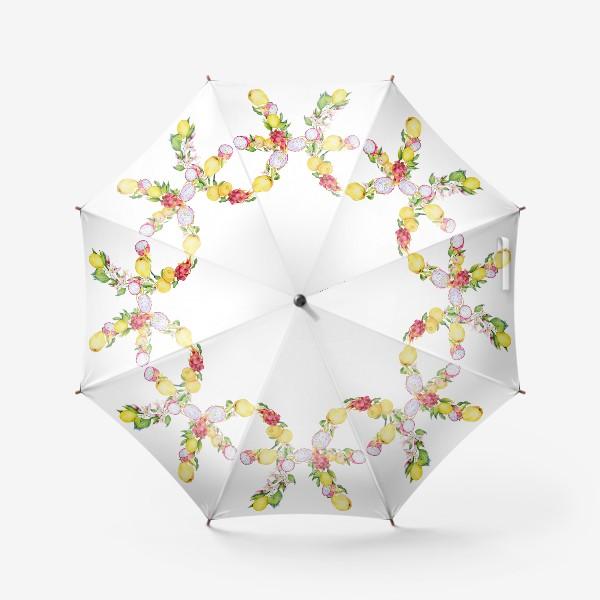 Зонт «Рыбы. Акварельный зодиак. Подарок рыбам»