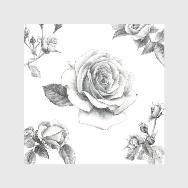 Скатерть «Винтажные розы на белом фоне ПОСТЕР»