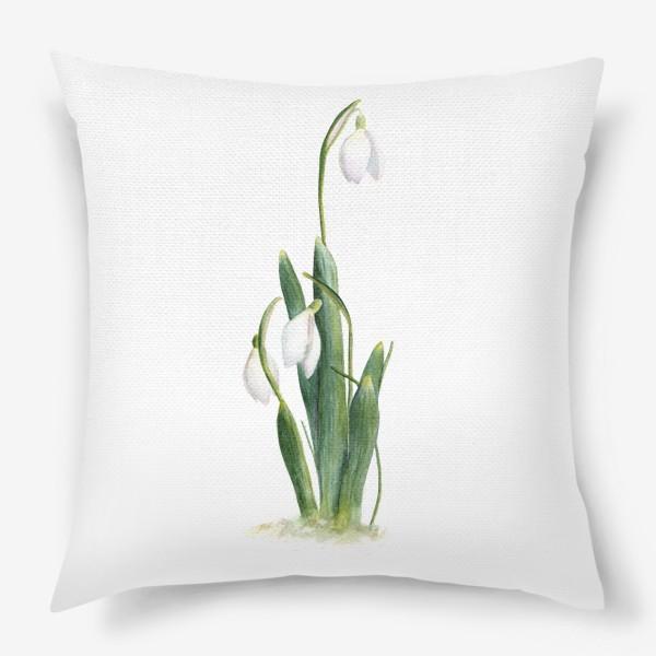 Подушка «Нежность самой весны. Подснежники.»