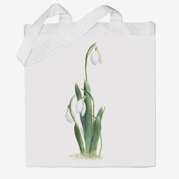 Сумка хб «Нежность самой весны. Подснежники.»