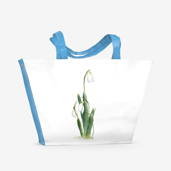 Пляжная сумка «Нежность самой весны. Подснежники.»