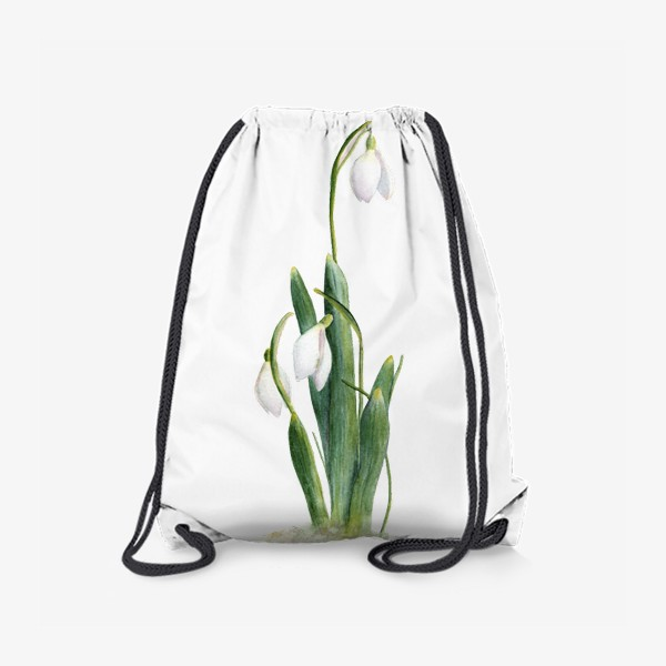 Рюкзак «Нежность самой весны. Подснежники.»