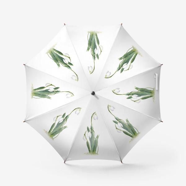 Зонт «Нежность самой весны. Подснежники.»