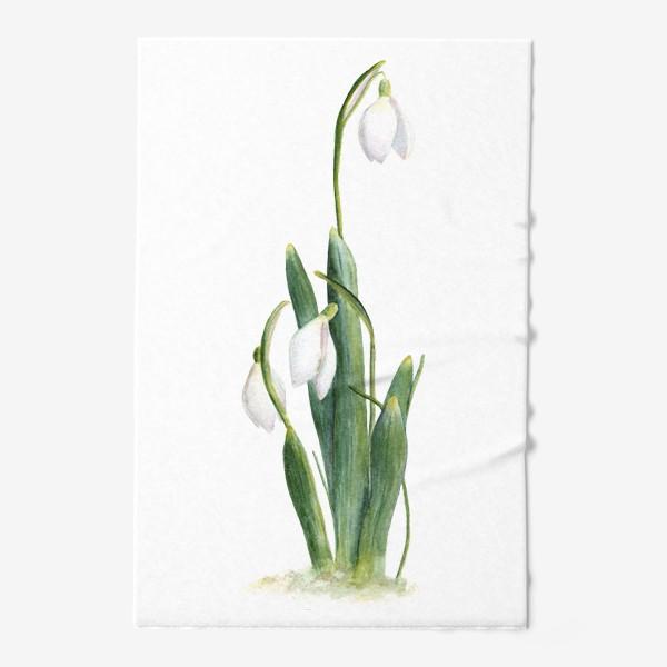 Полотенце «Нежность самой весны. Подснежники.»
