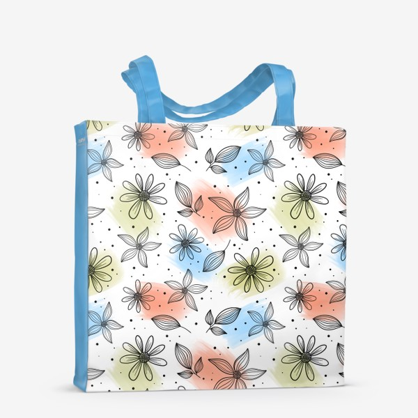 Сумка-шоппер «Цветы с мазками краски 2»