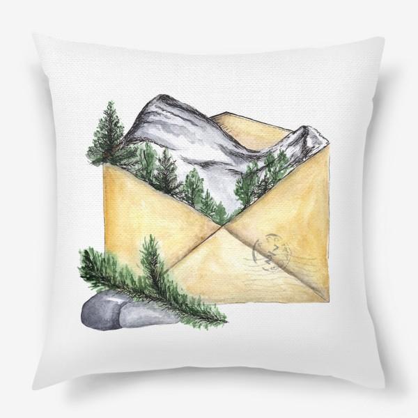 Подушка «Горы. Красная поляна. Сочи.»