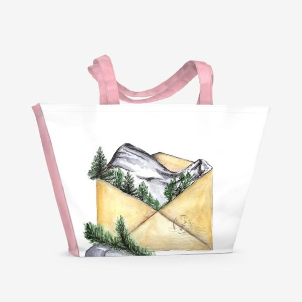 Пляжная сумка «Горы. Красная поляна. Сочи.»