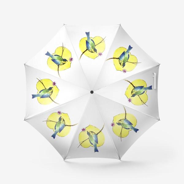 Зонт «Весенняя синичка.»