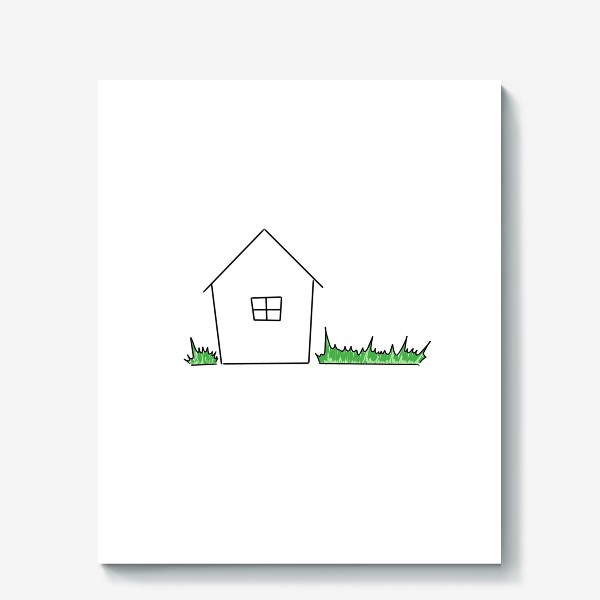 Холст «Трава. Трава у дома. Зеленая-зеленая трава. День космонавтики »