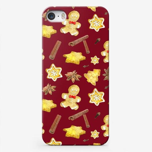 Чехол iPhone «Пряничный человечек,печенье,корица»