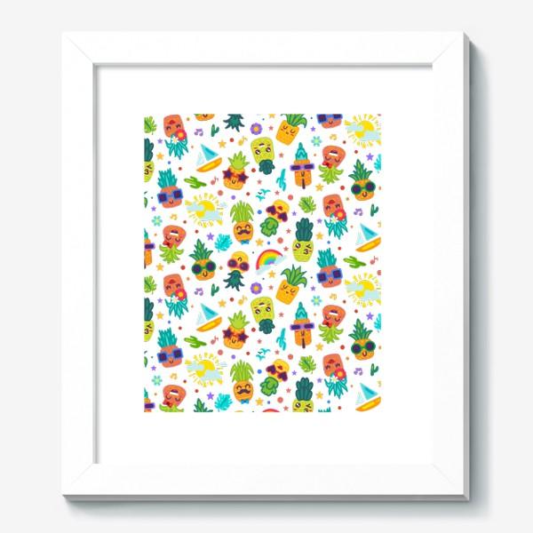Картина «Веселые ананасы на вечеринке»