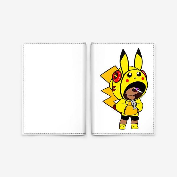"Обложка для паспорта «Brawl Stars ""Леон Пикачу""»"