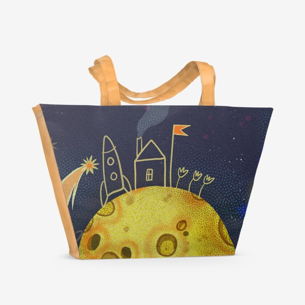 Пляжная сумка «Домик в космосе»